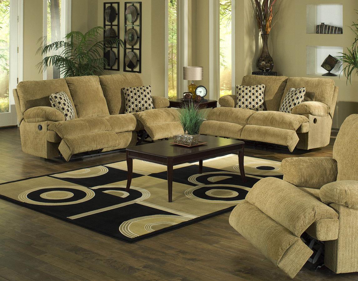Cheap CatNapper Newport Sofa Set – Pecan
