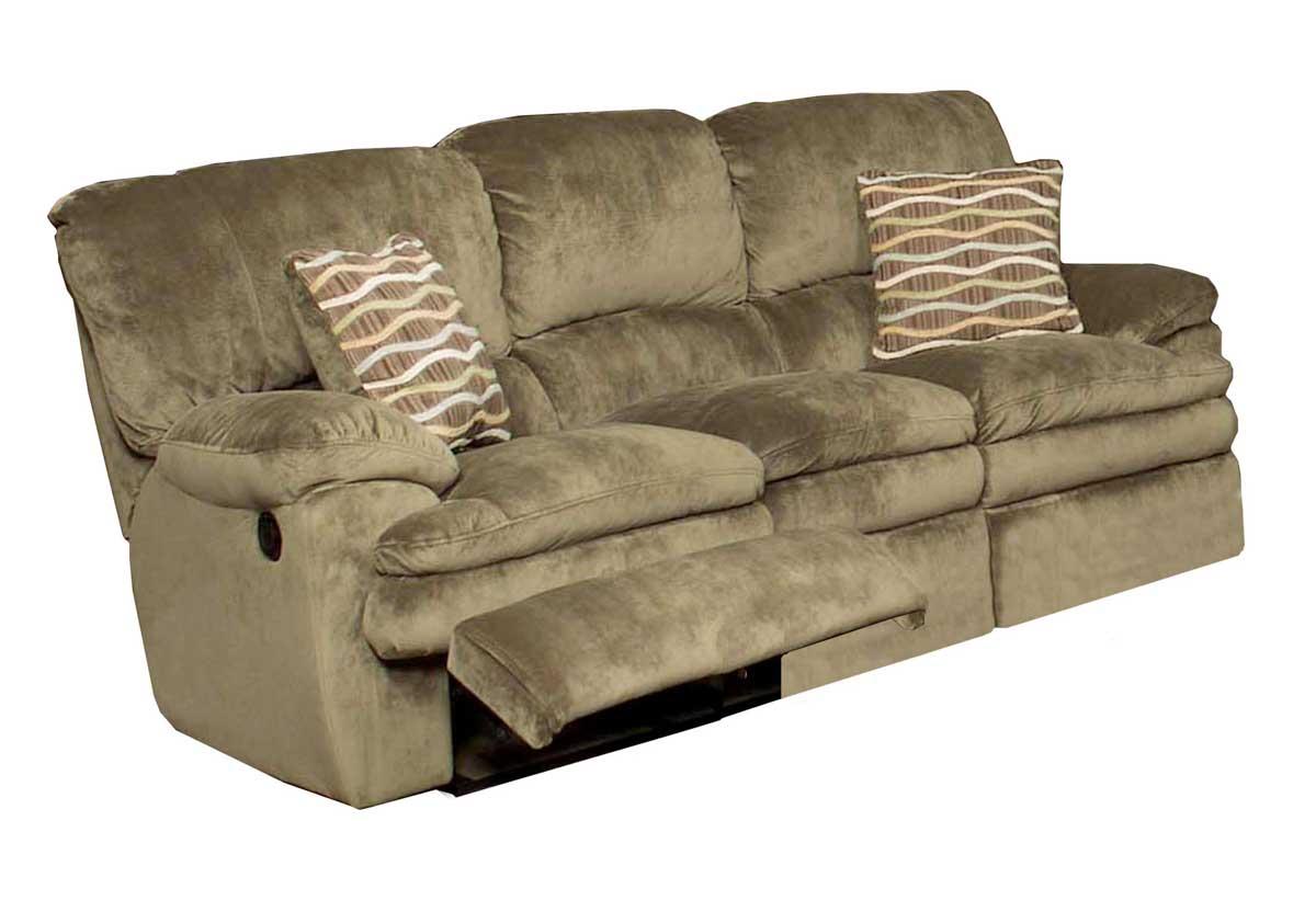 CatNapper Easton Dual Reclining Sofa   Sage