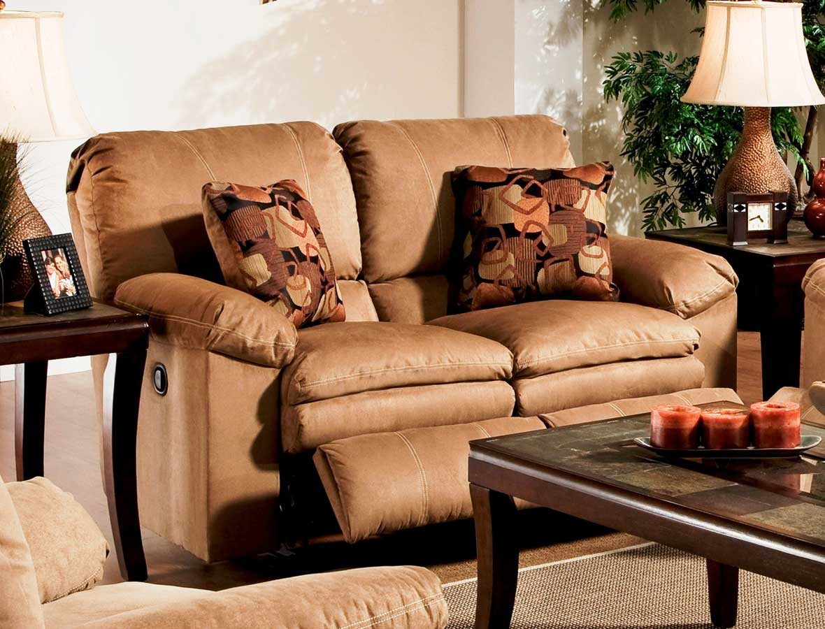 CatNapper Impulse Reclining Loveseat - Cafe