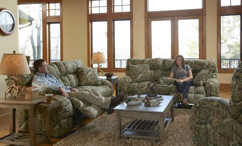 Catnapper Duck Dynasty Appalachian Power Lay Flat Reclining Sofa Set Mossy Oak Infinity Cn
