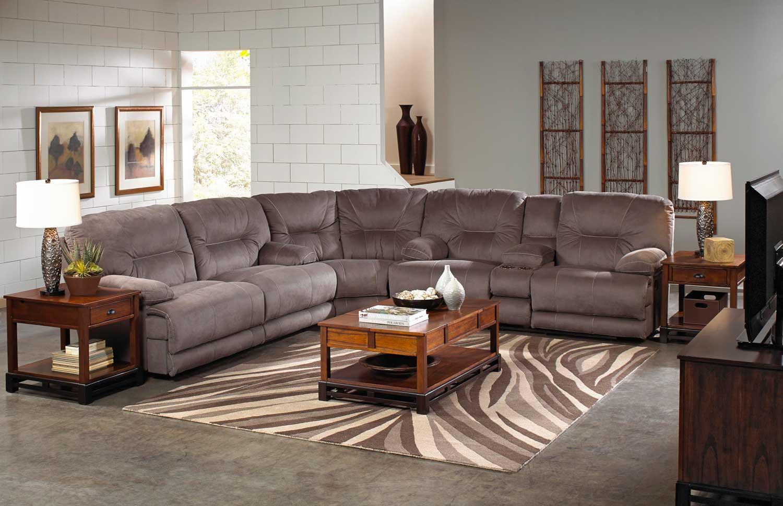 CatNapper Furniture Noble Sectional Sofa Set Slate CN Sect Set Slate p