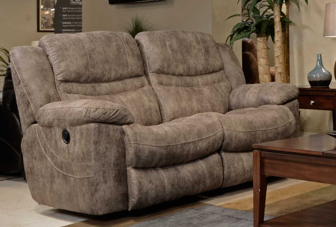 Catnapper Valiant Rocking Reclining Loveseat Marble Cn 14022 Marble At