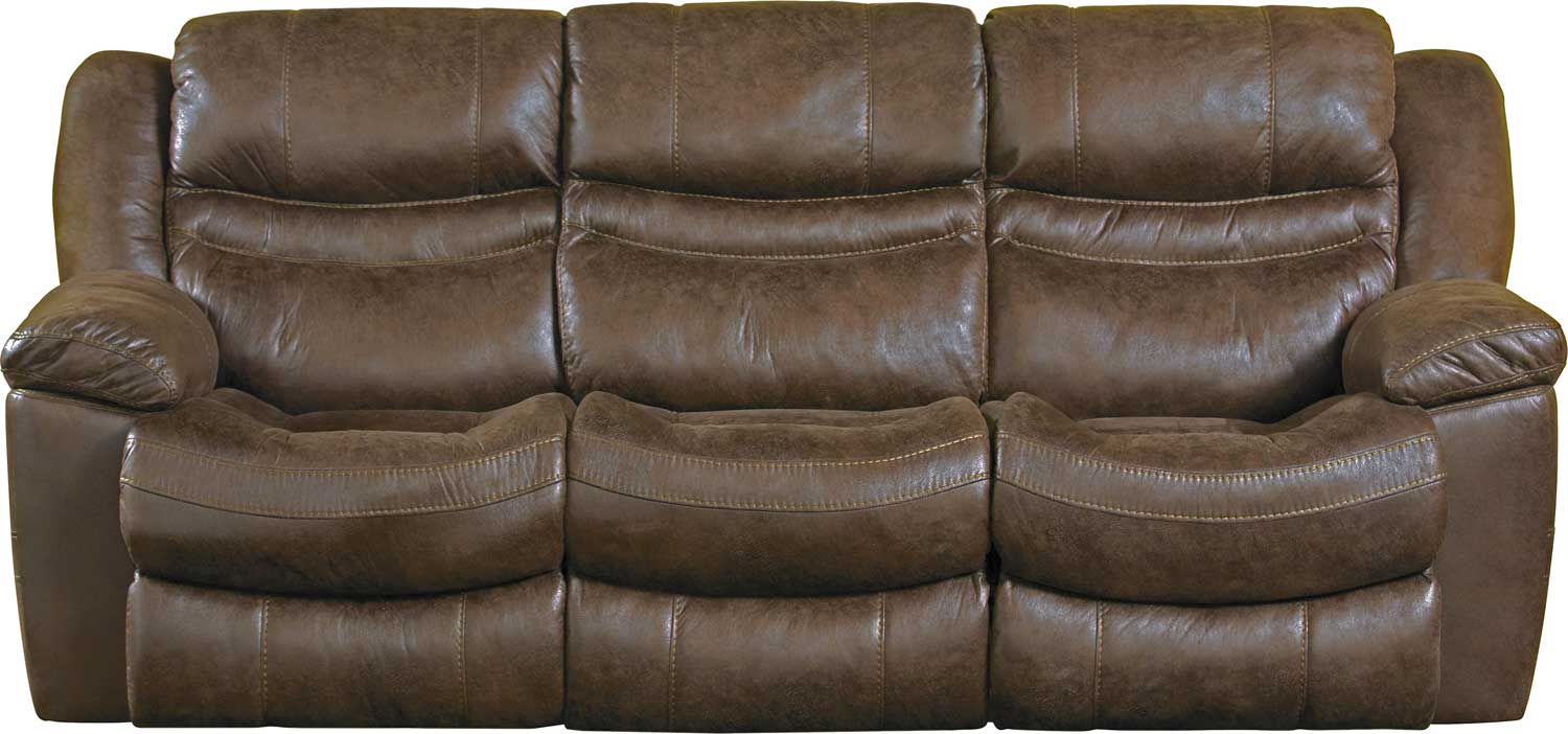 Catnapper Valiant Power Reclining Sofa With 3 Recliners And Drop