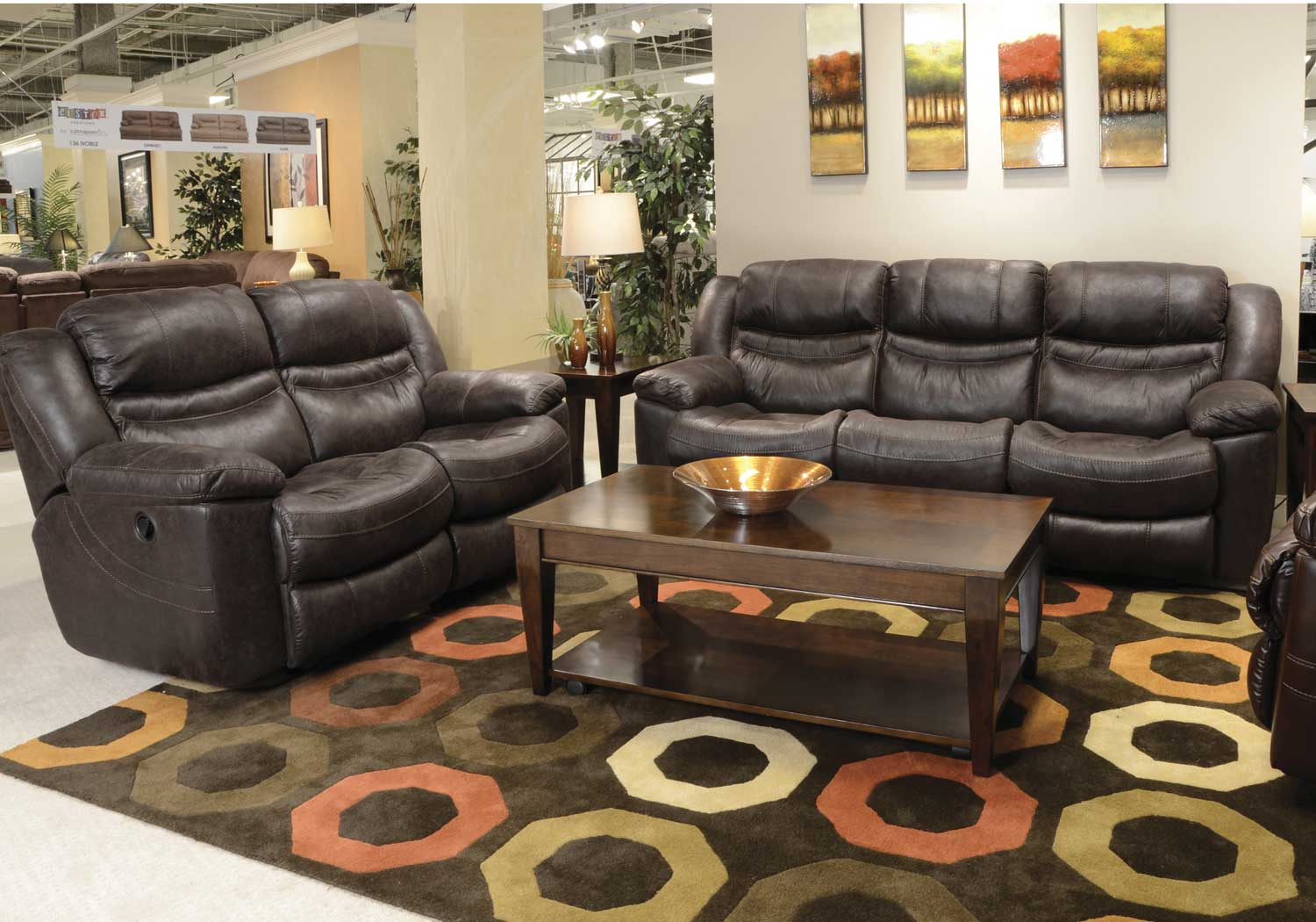 Catnapper Valiant Reclining Sofa Set Coffee Cn 14045