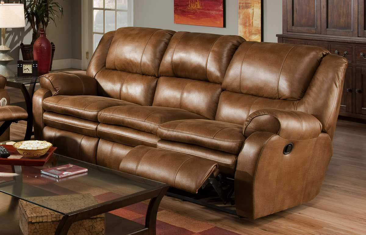 Catnapper cordoba reclining sofa wheat cn 1411 at for Sofa ideal cordoba