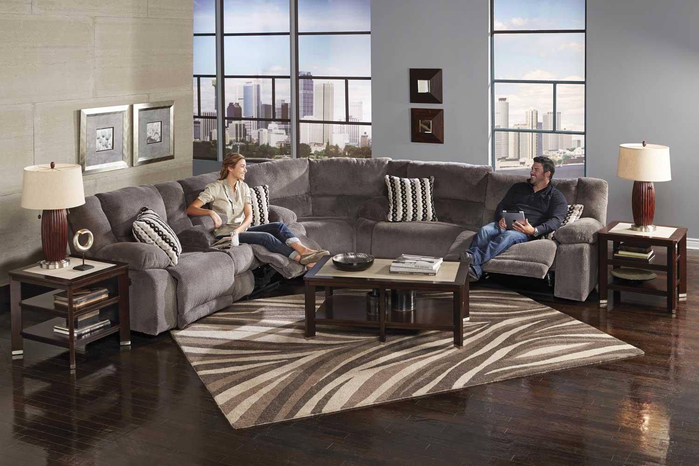 CatNapper Hammond Sectional Sofa Set Granite CN Sect Set Granite p