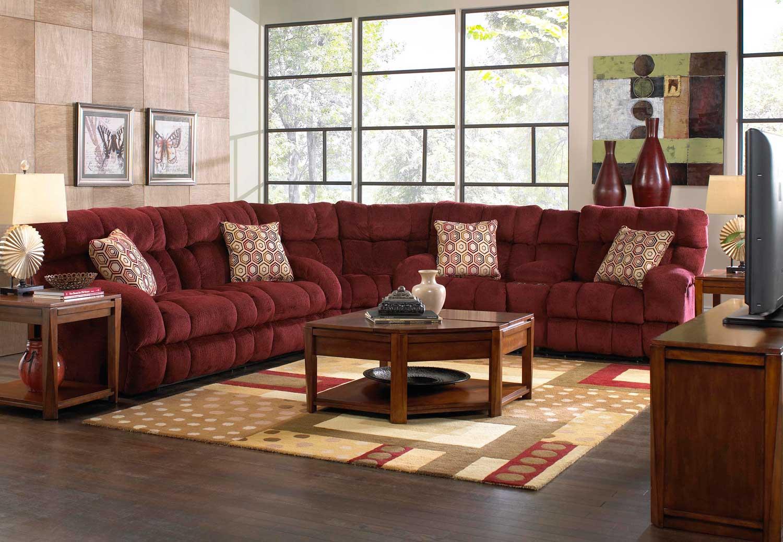 CatNapper Siesta Power Lay Flat Reclining Sectional Sofa