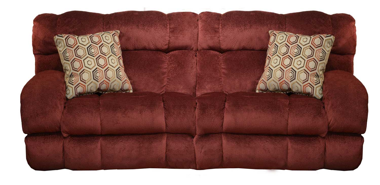 CatNapper Siesta Queen Sleeper Sofa - Wine