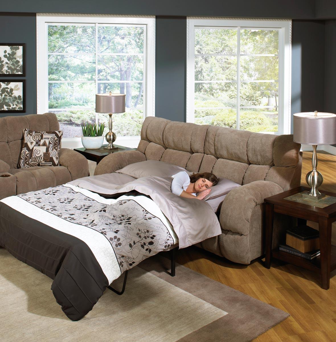 CatNapper Siesta Queen Sleeper Sofa - Porcini
