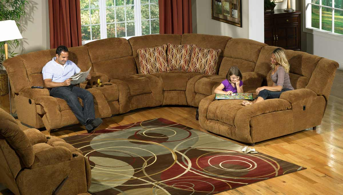 Catnapper Enterprise Sectional Sofa Set Camel Cn 185