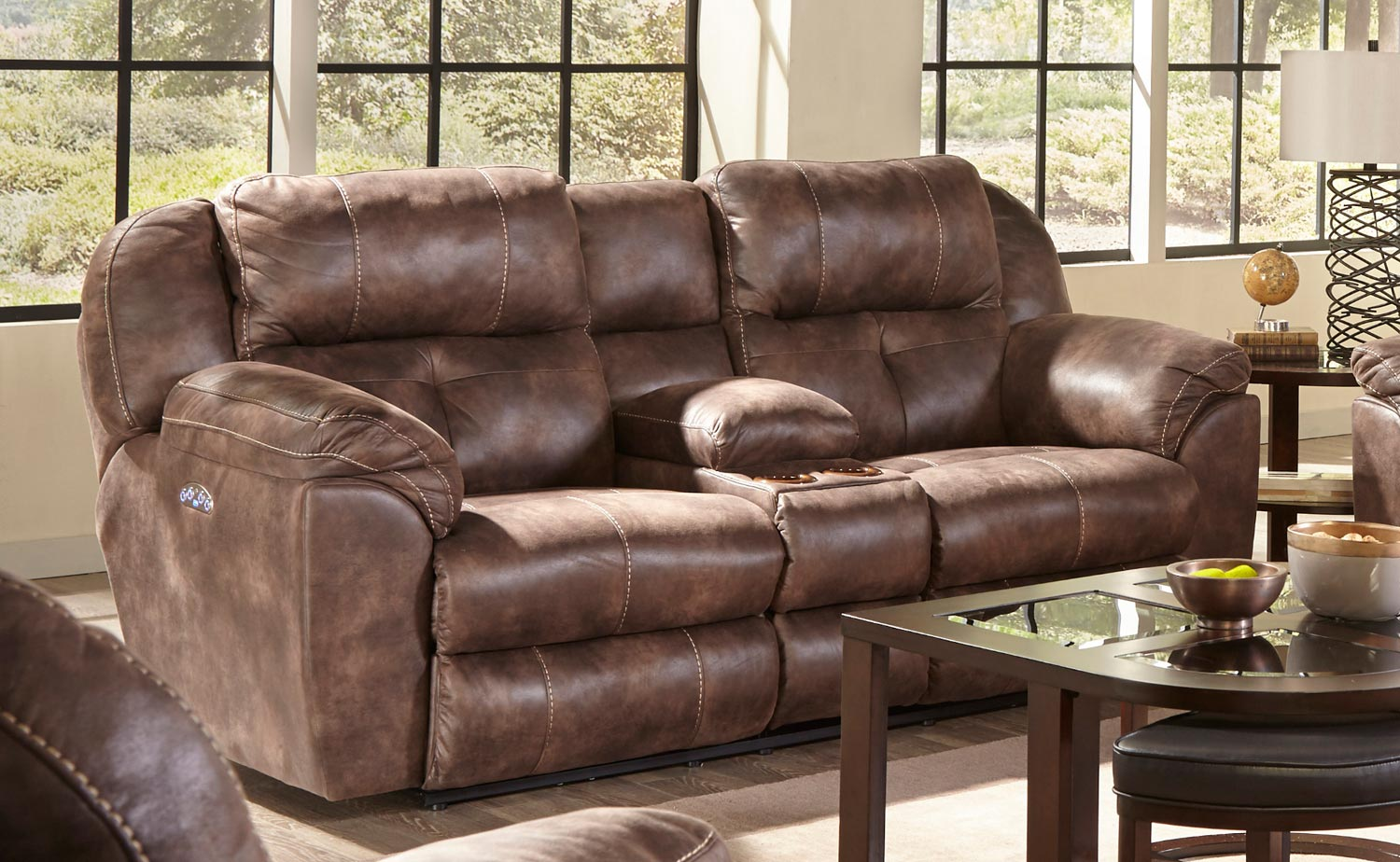 collection leather flat reclining by only catnapper smoke lay italian loveseat in aria