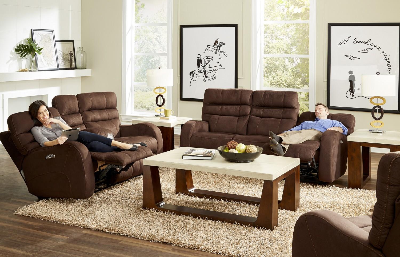 Catnapper Kelsey Power Headrest Power Lay Flat Reclining Sofa Set  ~ Lay Flat Reclining Sofa