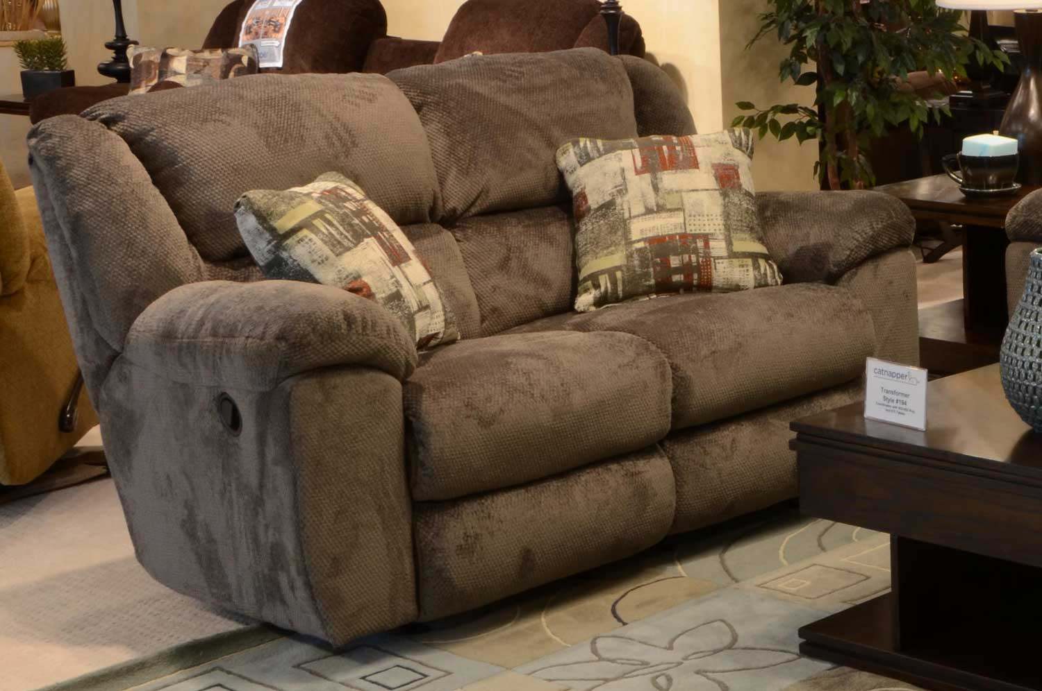 homelement reclining sage tundra at com loveseat catnapper p rocking cn