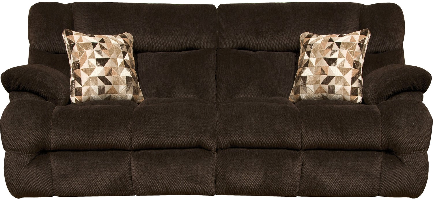 CatNapper Brice Power Reclining Sofa with Power Headrest - Chocolate