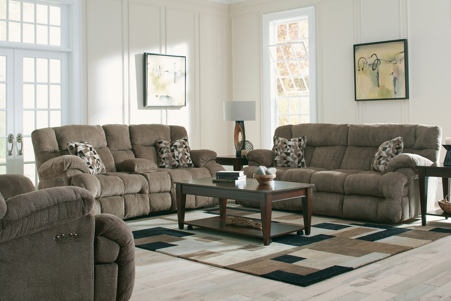 CatNapper Brice Power Reclining Sofa Set - Chateau
