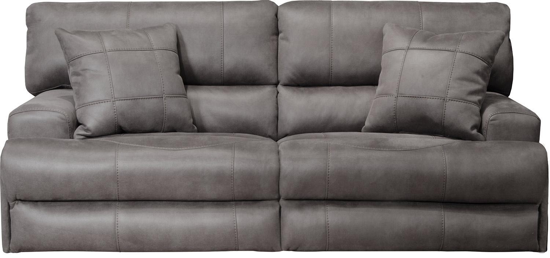 CatNapper Monaco Reclining Sofa - Charcoal