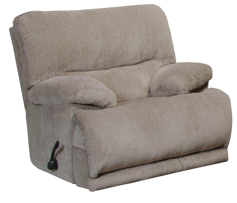 CatNapper Jules Chaise Rocker Recliner Chair - Pewter