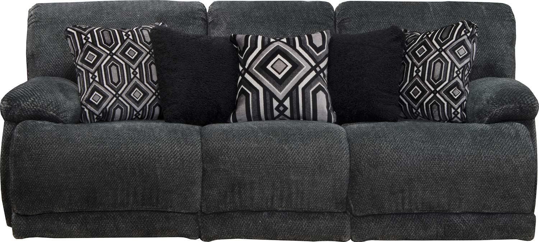 CatNapper Montego Reclining Sofa - Ebony