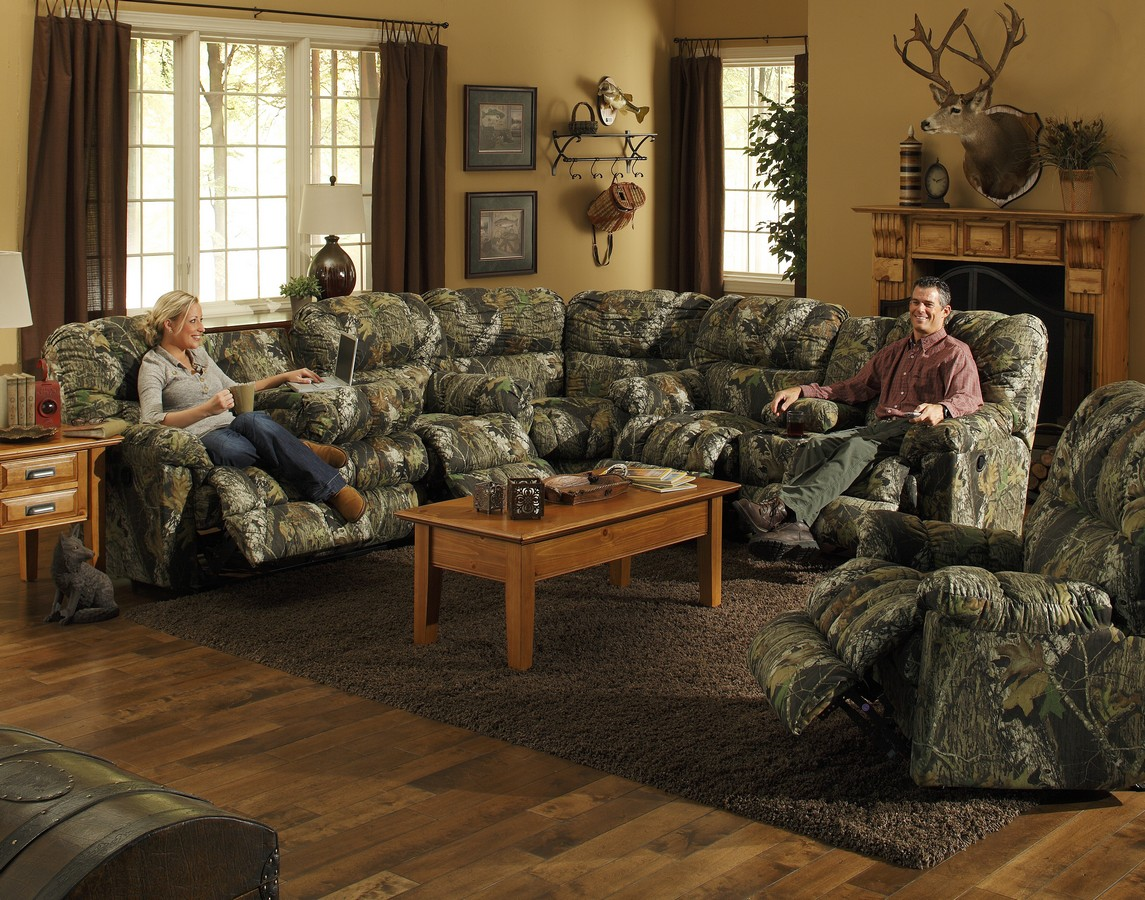 Camo furniture living room sectionals for Living room decor sets
