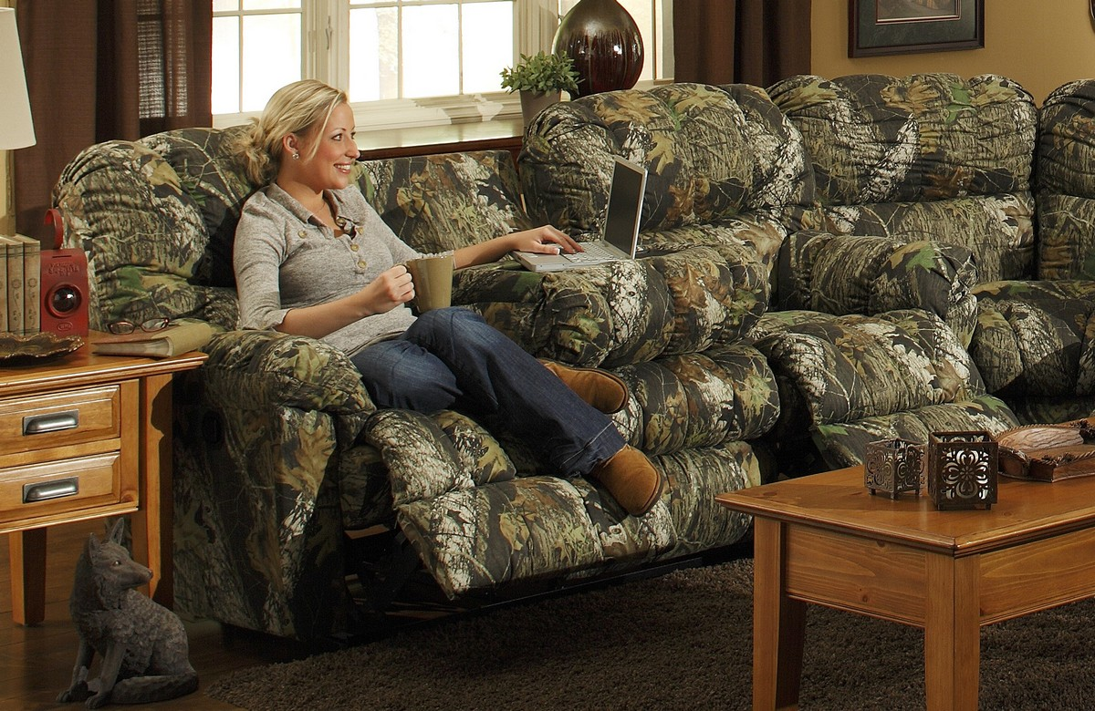 Camo Sectional Sofa http://www.homelement.com/Living-Room/Sofas/Cuddler-Dual-Reclining-Sofa-with-Selec-Table-and-Cupholders-Catnapper-p-24634.html