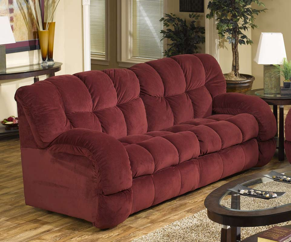 Etonnant CatNapper Softie Dual Reclining Sofa   Bordeaux