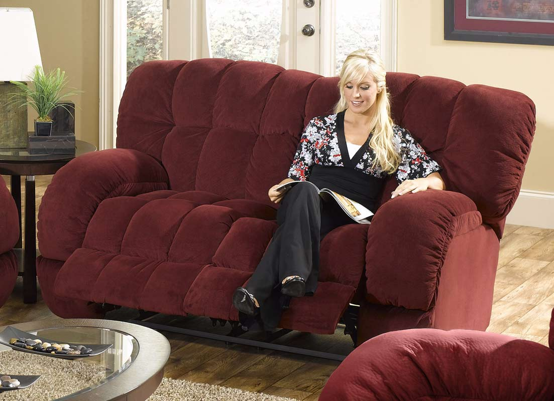 CatNapper Softie Dual Reclining Love Seat - Bordeaux