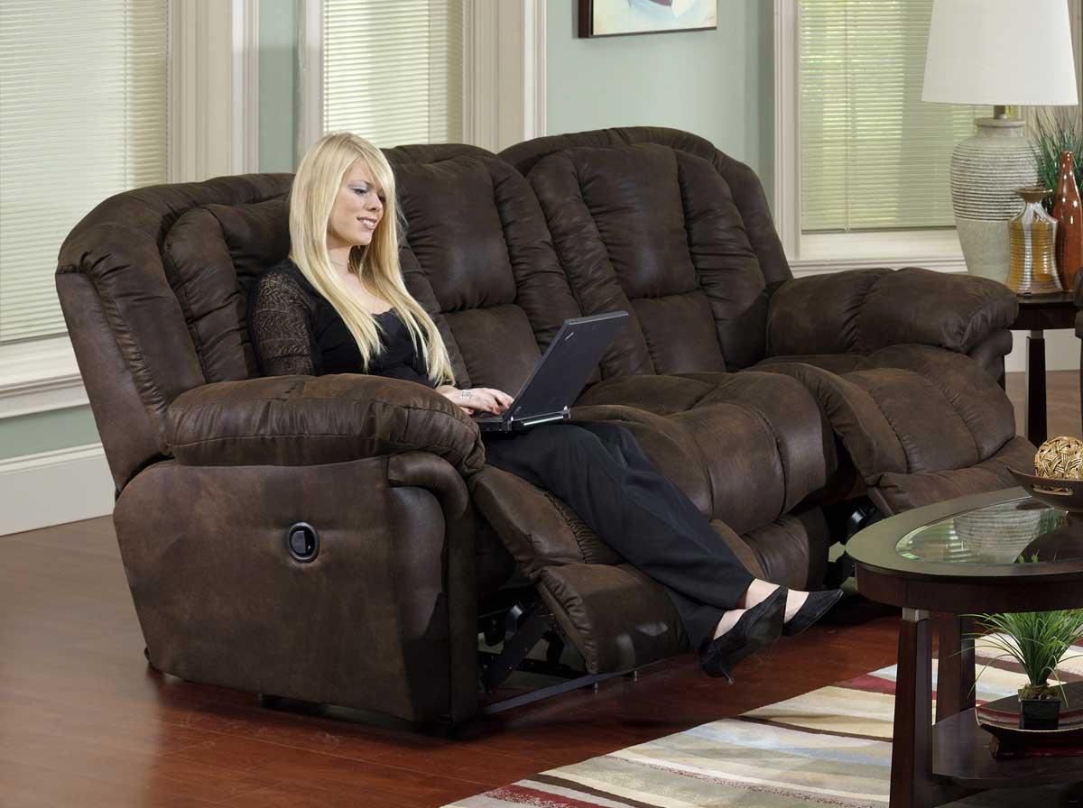 Catnapper Contour Dual Reclining Sofa Cn 3921 At