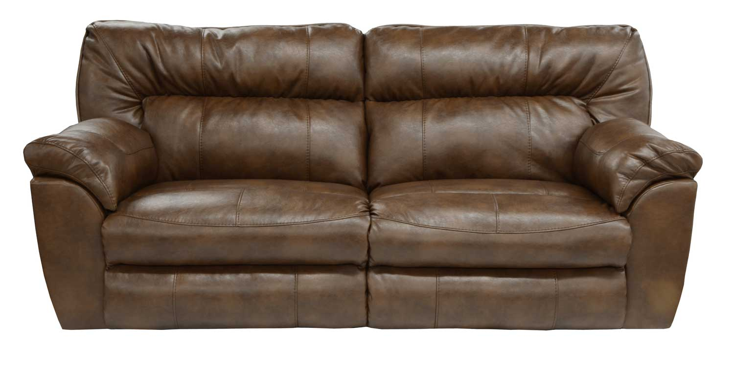 CatNapper Nolan Leather Extra Wide Power Reclining Sofa - Chestnut
