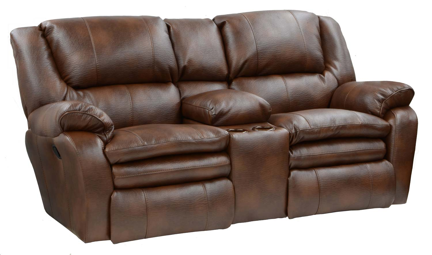 Catnapper Russell Bonded Leather Lay Flat Reclining Sofa Set Tobacco Cn 4101 Sofa Set Tobacco