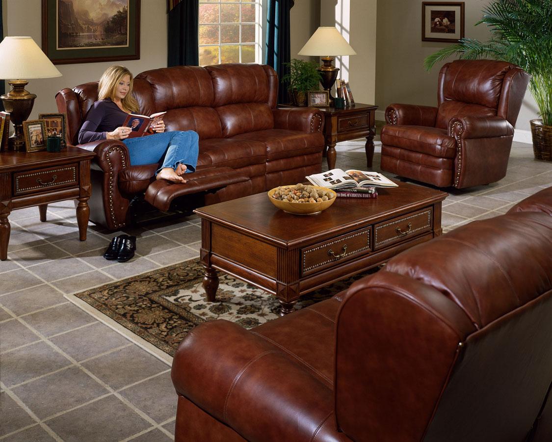 Cheap CatNapper Buckingham Sofa Set – Chestnut