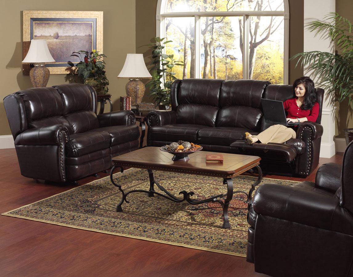 Cheap CatNapper Buckingham Sofa Set – Chocolate