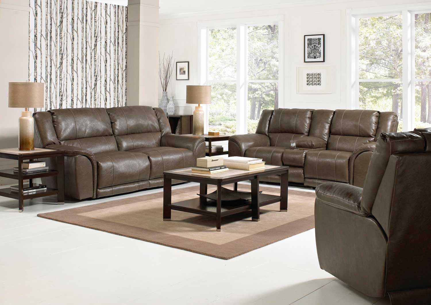 Catnapper Carmine Power Lay Flat Reclining Sofa Timber Cn 64151  ~ Sofa With Chaise And Recliner
