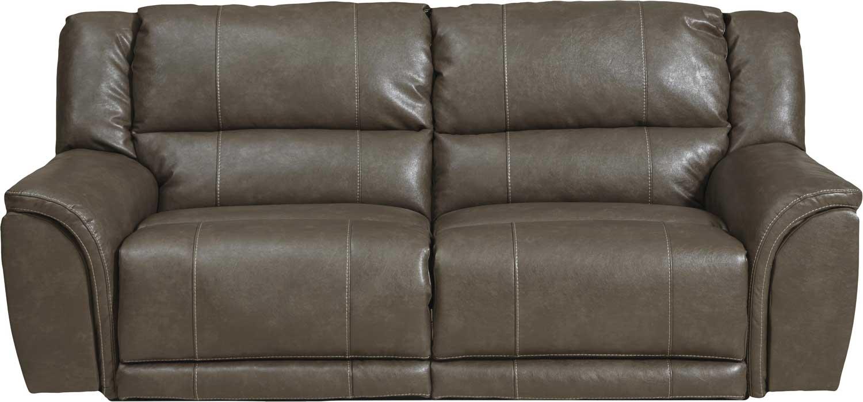 CatNapper Furniture Carmine Lay Flat Reclining Sofa Smoke CN Smoke p