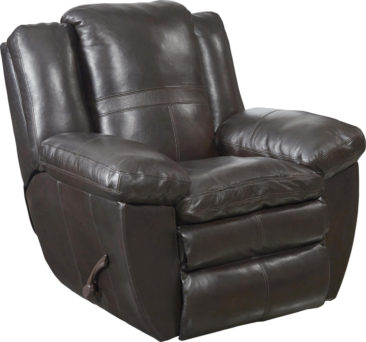 CatNapper Aria Top Grain Italian Leather Lay Flat Recliner - Chocolate