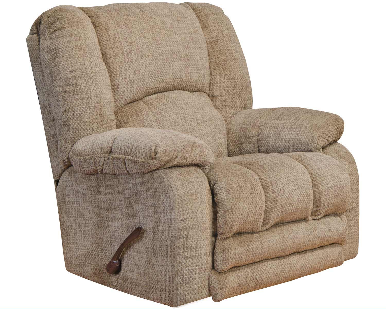 CatNapper Hardin Rocker Recliner Chair - Camel