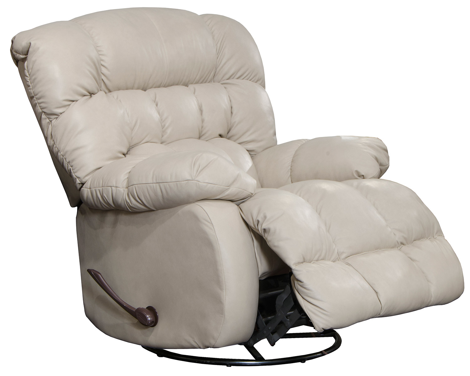 CatNapper Pendleton Leather Recliner Chair - Alabaster