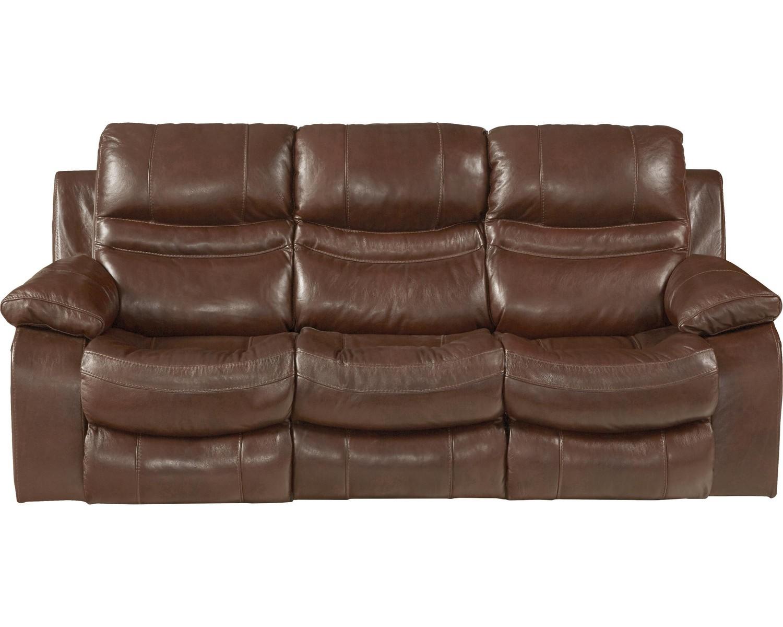 CatNapper Patton Top Grain Italian Leather Lay Flat Reclining Sofa   Walnut
