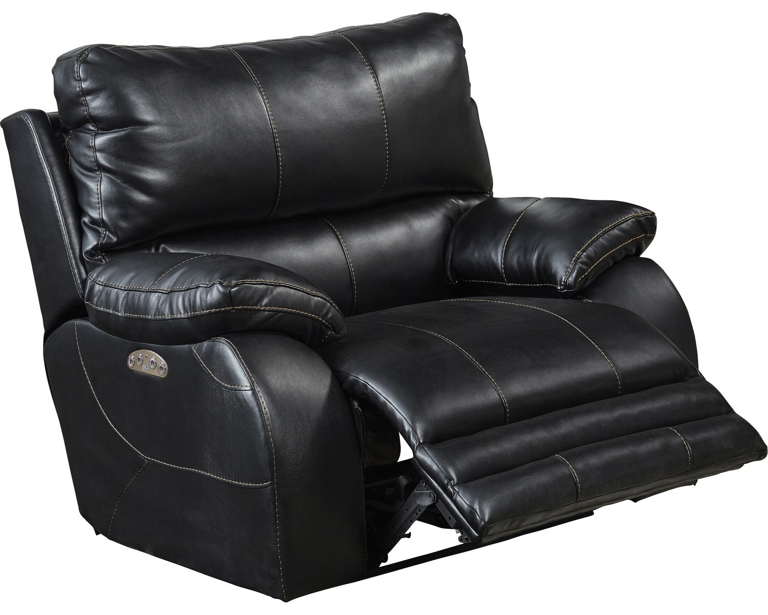 CatNapper Sheridan Power Headrest Power Lay Flat Recliner - Black