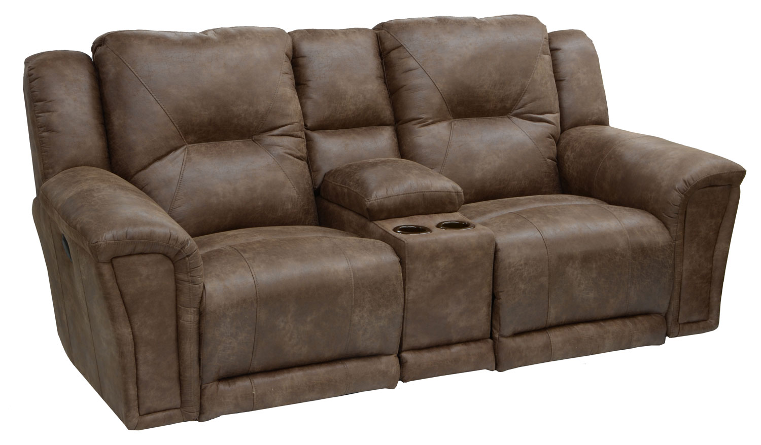 Collin Power Lay Flat Reclining Console Loveseat With
