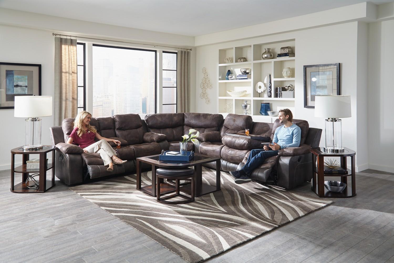 CatNapper Henderson Reclining Sectional Sofa Set - Dusk