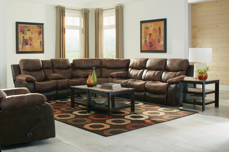CatNapper Henderson Reclining Sectional Sofa Set - Sunset