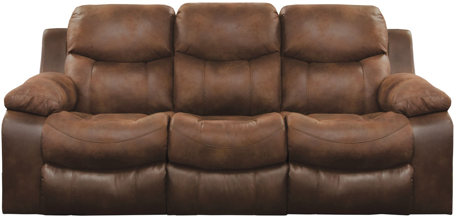 CatNapper Henderson Reclining Sofa With Drop Down Table - Sunset