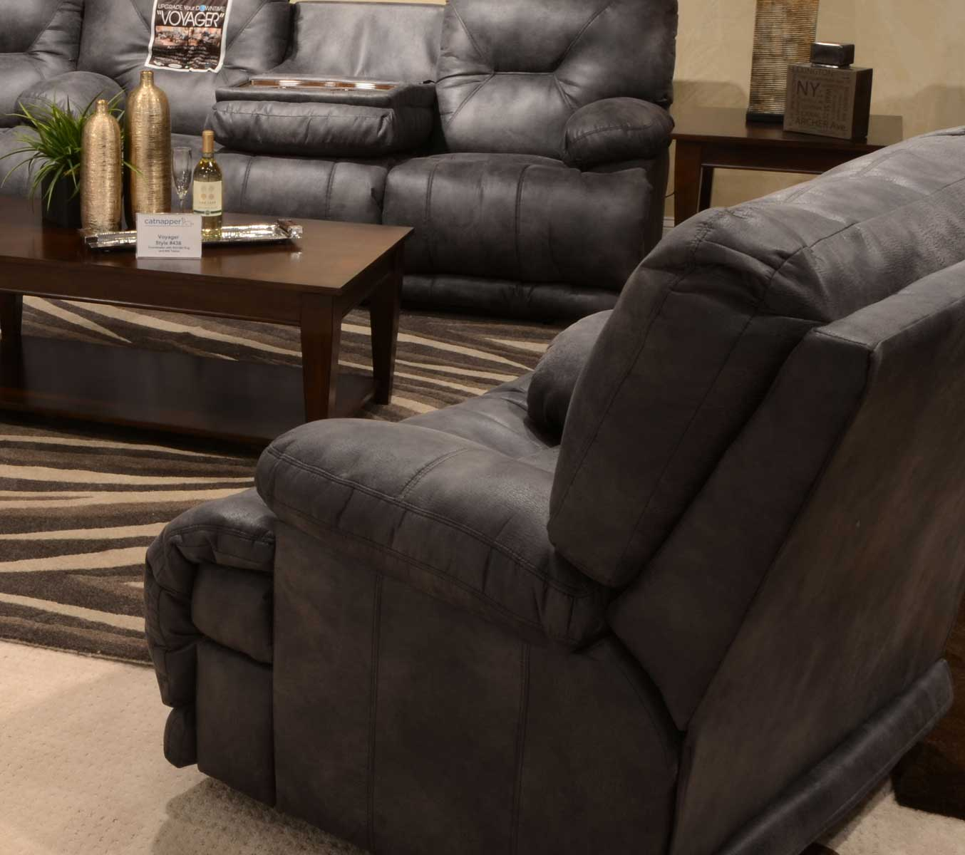 CatNapper Voyager Lay Flat Recliner - Slate