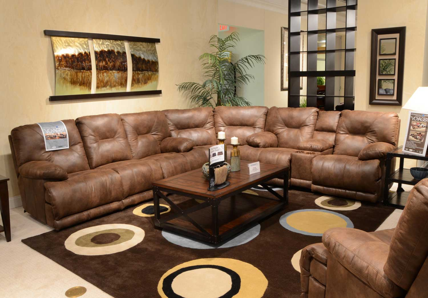 CatNapper Voyager Sectional Sofa Set Elk CN 43845 Sect