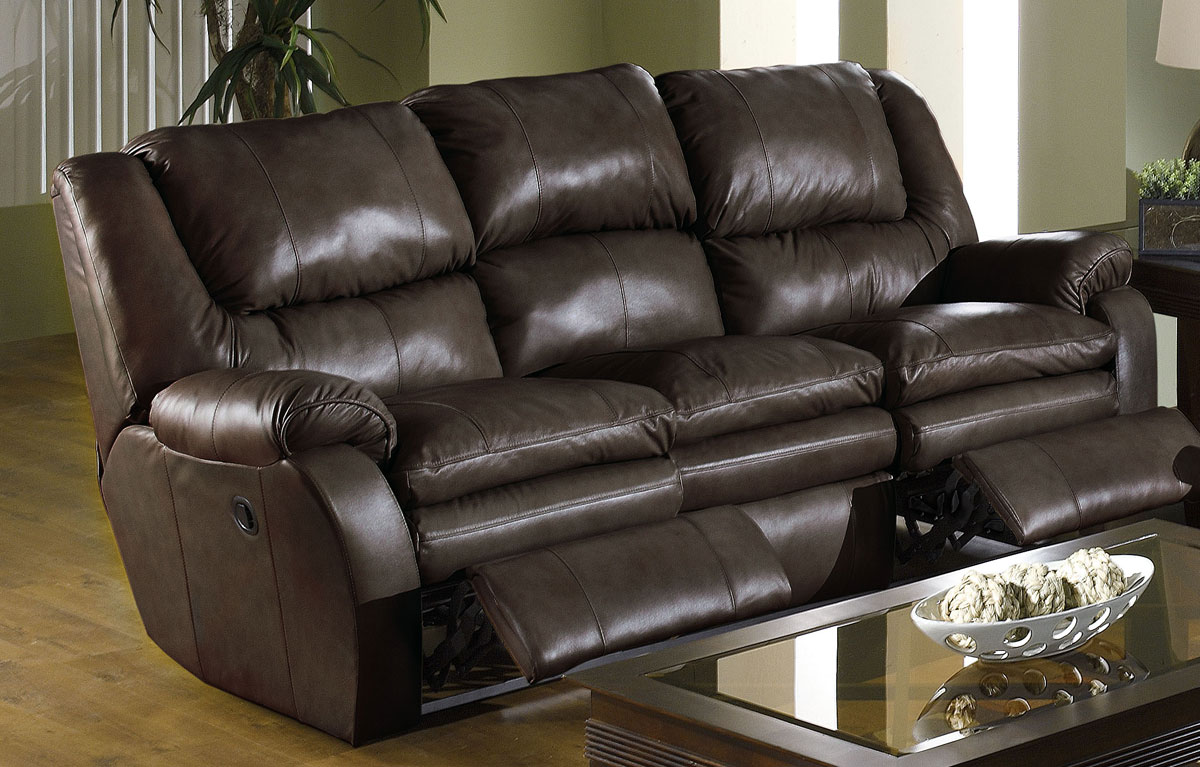 Catnapper Allegro Dual Reclining Leather Sofa Cn 4411 At