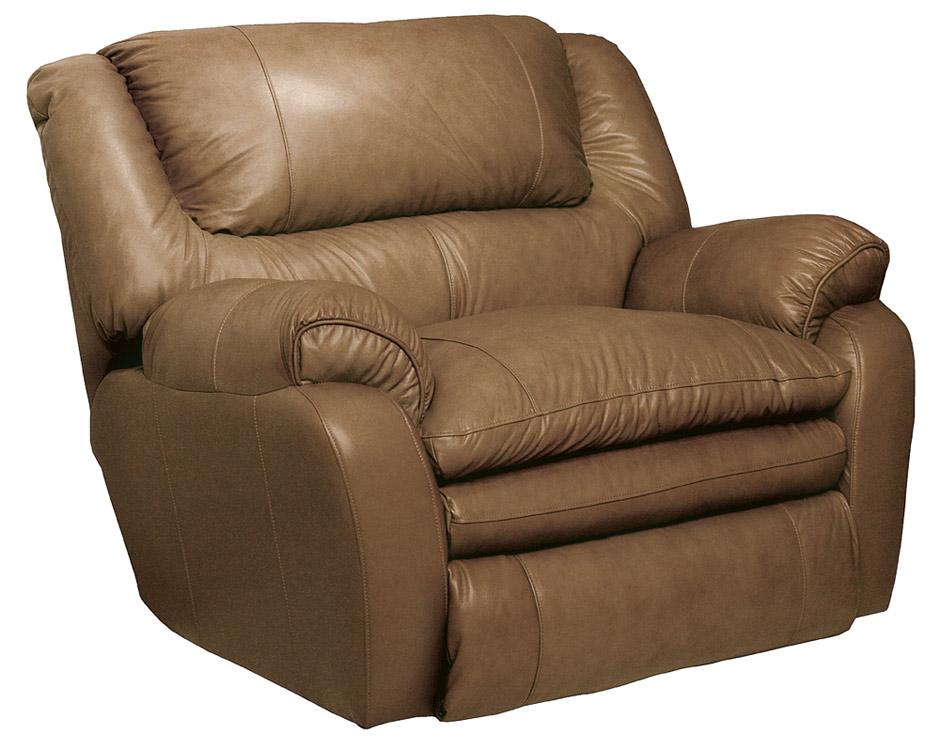Catnapper allegro leather cuddler recliner mushroom cn for Catnapper cloud nine chaise recliner
