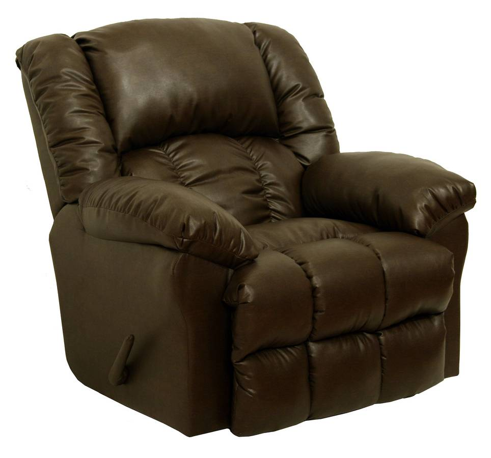 Catnapper winchester leather chaise rocker recliner cn for Catnapper chaise