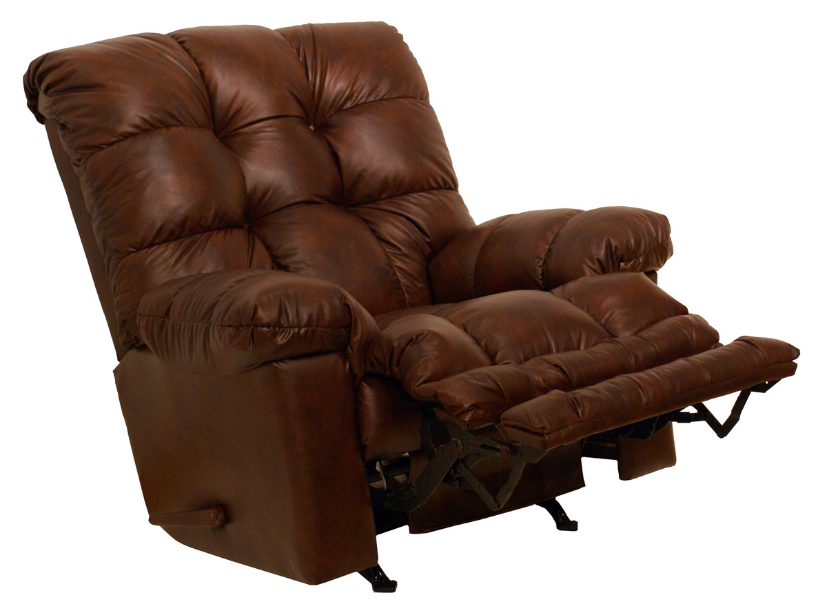 Catnapper cloud ten leather chaise rocker recliner cn 4459 for Chaise x rocker