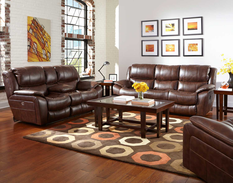 CatNapper Beckett Reclining Sofa Set   Java