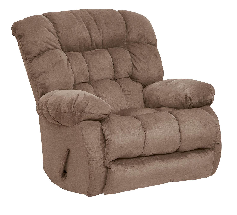 CatNapper Teddy Bear Rocker Recliner Chair - Saddle